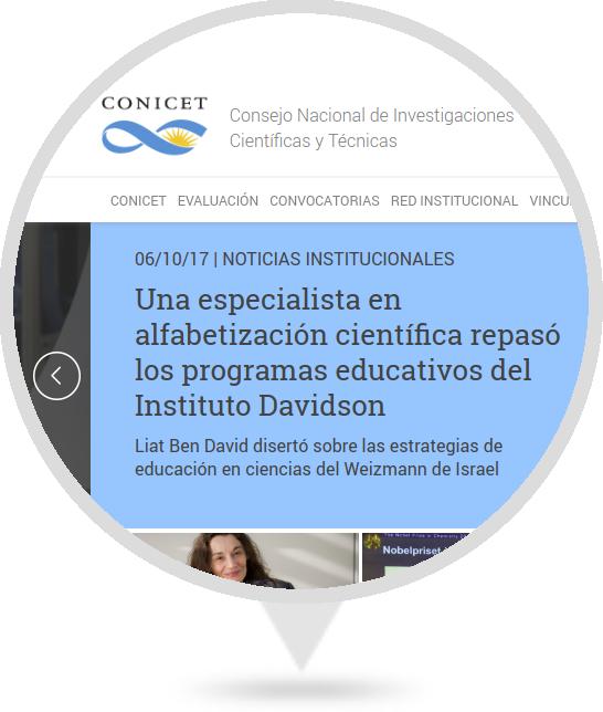 Sitio Web del CONICET