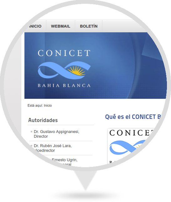 Sitio Web del CCT Bahía Blanca