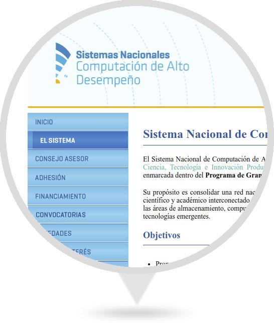 Sitio Web de SNCAD