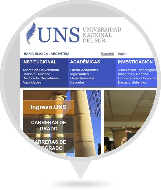 Sitio Web de UNS